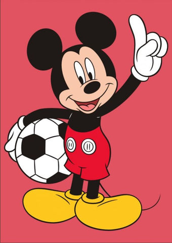 113 - A4+size Mickey Mouse and Football