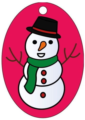 XMAS-06 Sand Art Snowman Christmas Tree Decorations 10 Pack - £14.40 Inc VAT