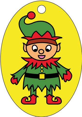 XMAS-01  Christmas Elf Xmas Decoration 13cm x 9cm