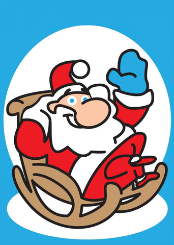 301 Santa in a Chair A4+size