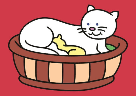 525-PP Cat in Basket A5size