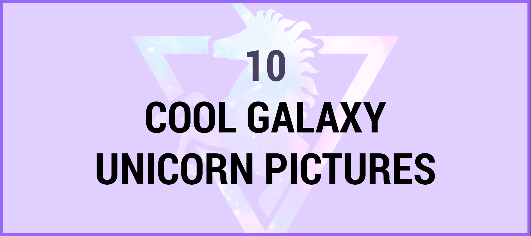 cool galaxy unicorn pictures