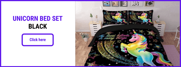 UNICORN BED SET BLACK