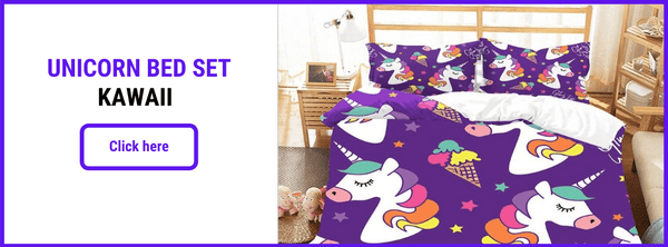 UNICORN BED SET KAWAII