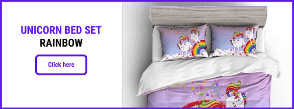 UNICORN BED SET RAINBOW