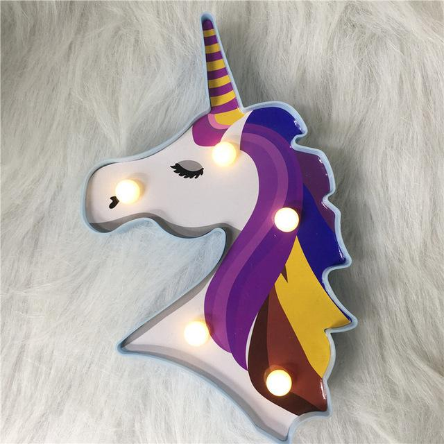 Unicorn Lamp Rainbow Multicolor