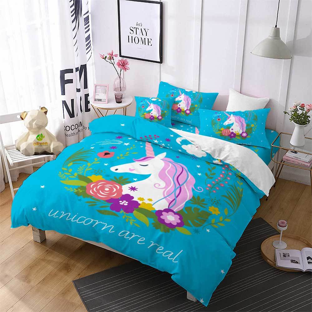 Unicorn Bed Comforter Set