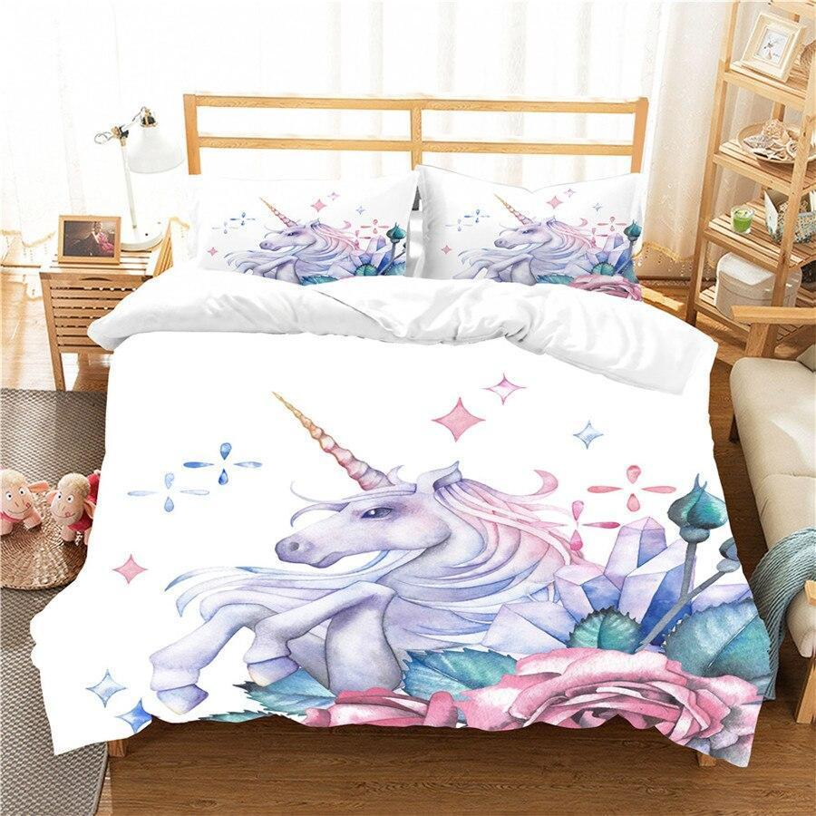unicorn double bed set