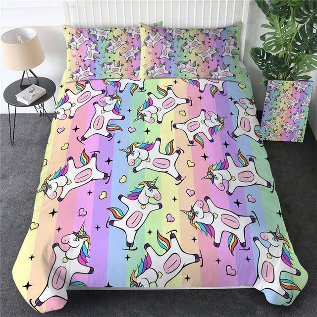 Unicorn Emoji Bedding Set