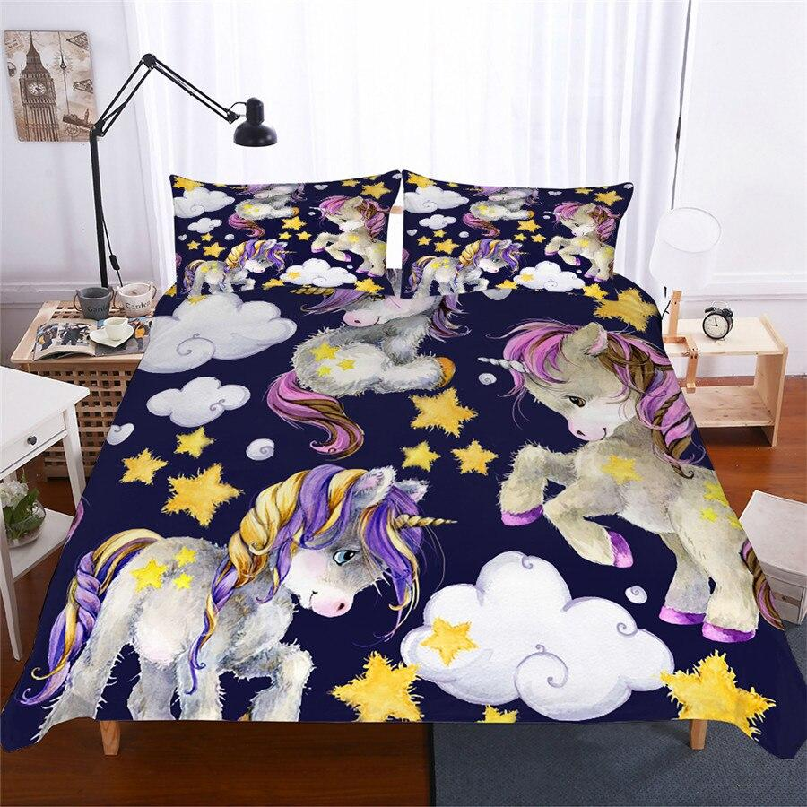 unicorn bed set for girls