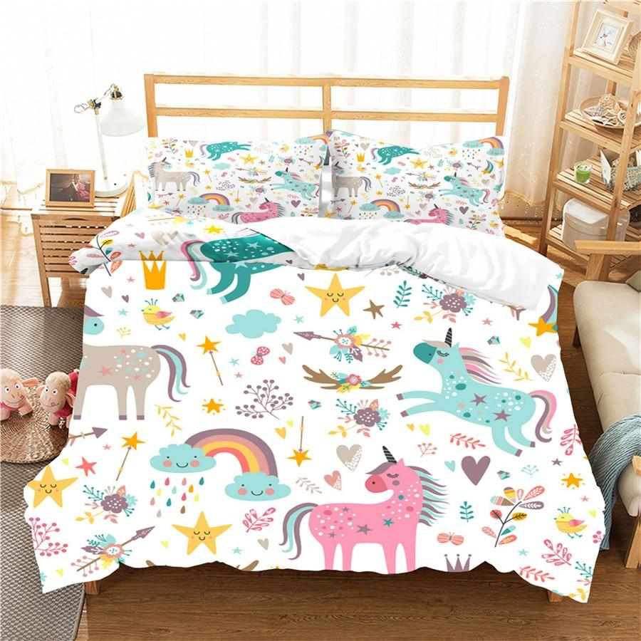 unicorn bedding set for kids