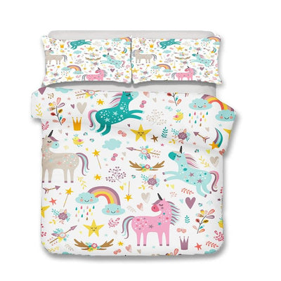 unicorn bed set for kids