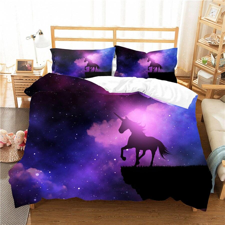 Galaxy Unicorn Bed Set