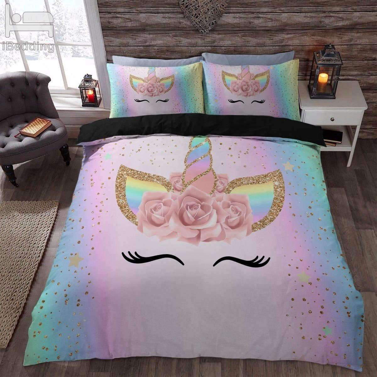 Pink Unicorn Bed Set