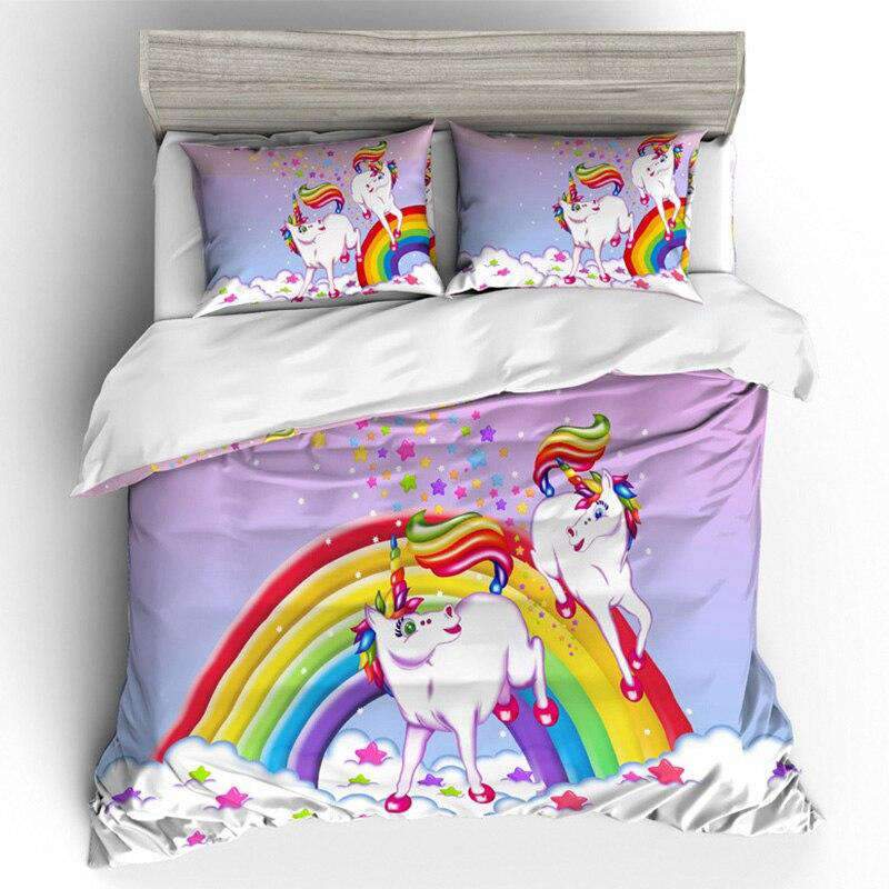 Rainbow Unicorn Bed Set