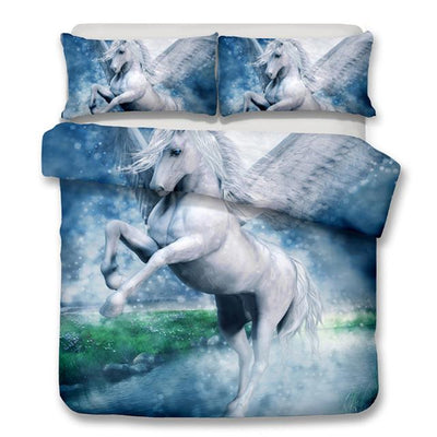 3d unicorn bed set
