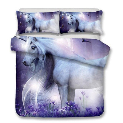 unicorn bed set 3d