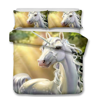 unicorn bedding set 3d