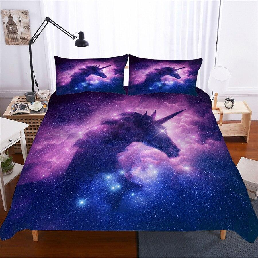 cosmos unicorn bedding set