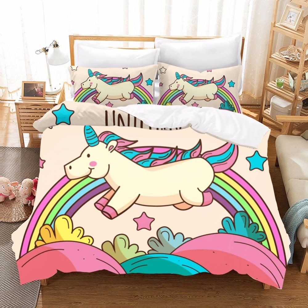 Twin Unicorn Bedding Set
