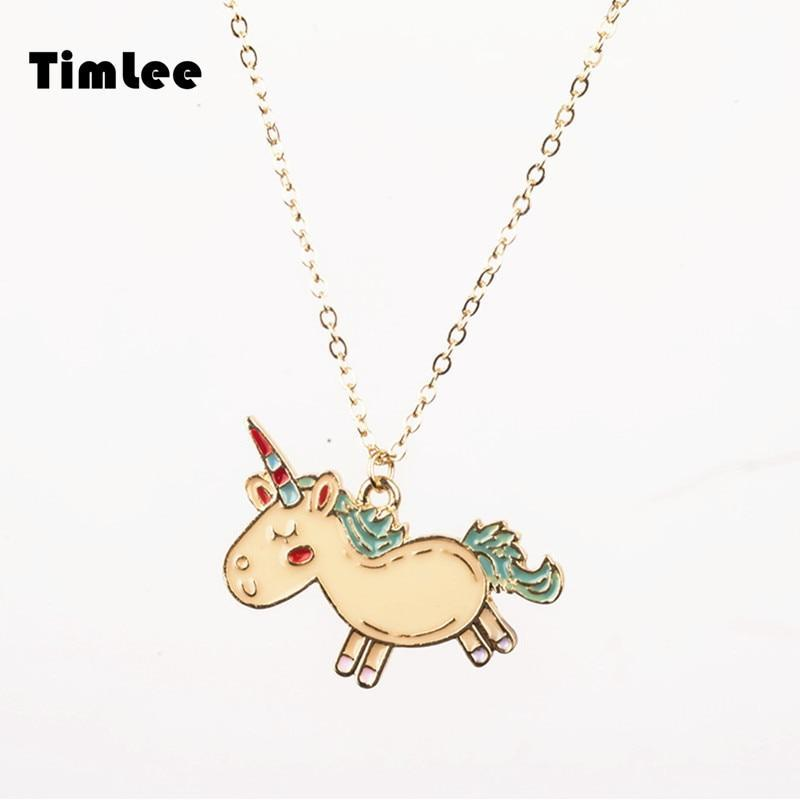 Cartoon Design Unicorn Necklace