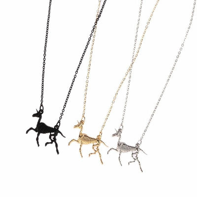 Carved Bone Unicorn Necklace