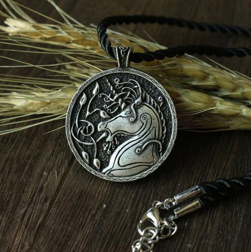 Celtic Retro Unicorn Necklace