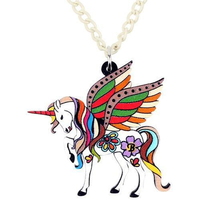 Unicorn Necklace Fairytale Brown