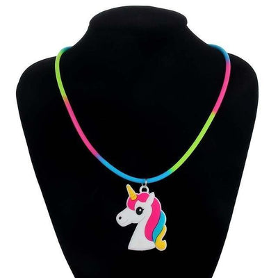 Unicorn Necklace for Kids Rainbow