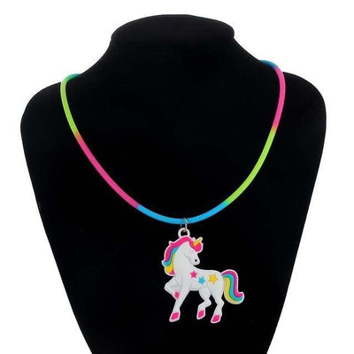 Unicorn Necklace for Kids Multicolor