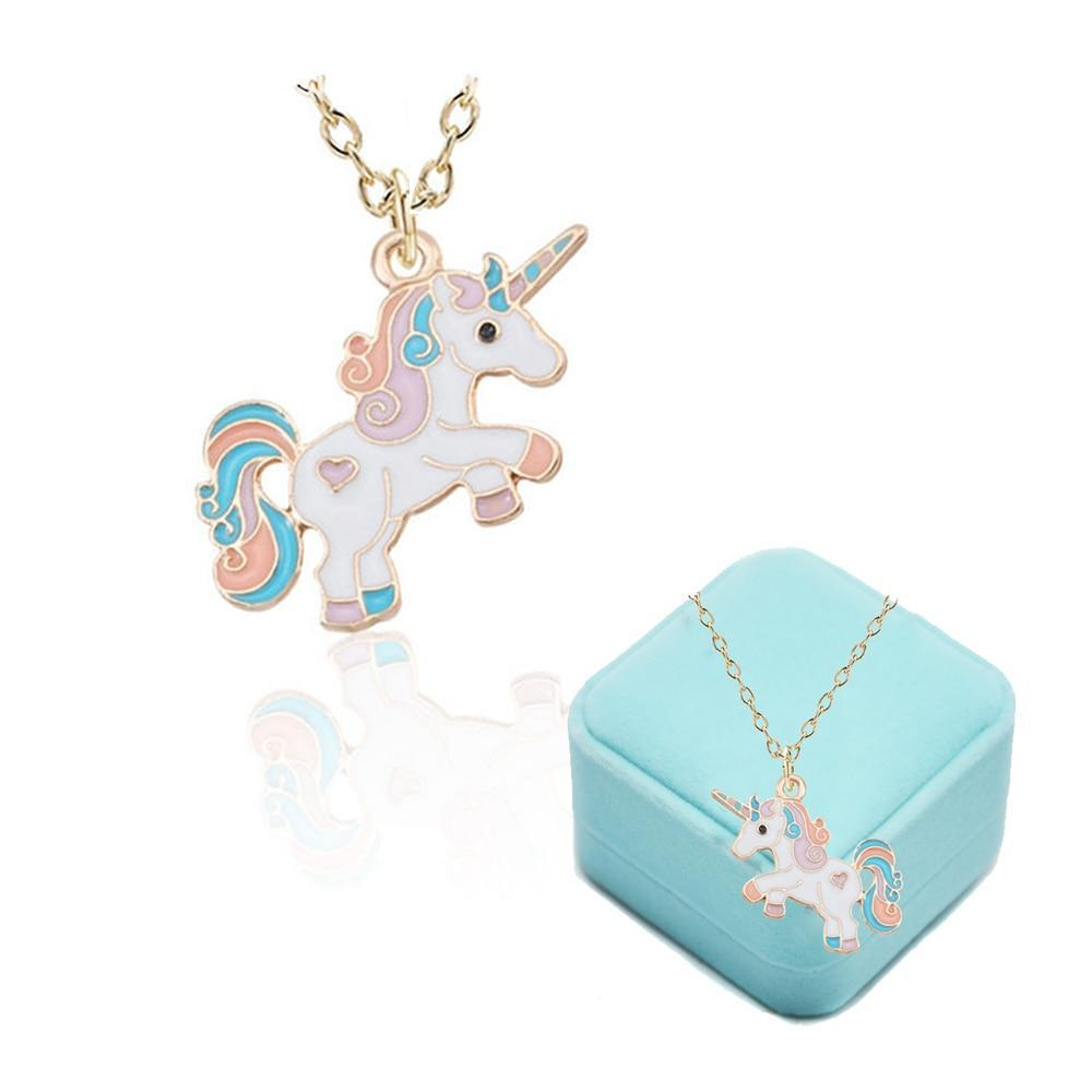 Unicorn Necklace Girls