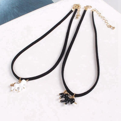 Unicorn Necklace <br> Leather Choker