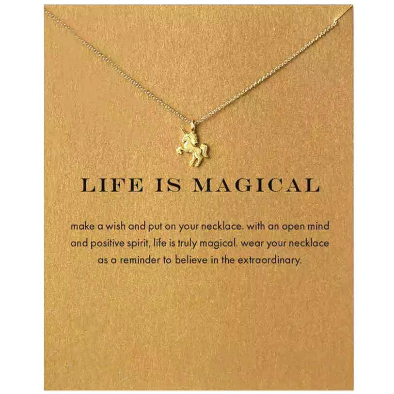 Magical Gold Unicorn Necklace