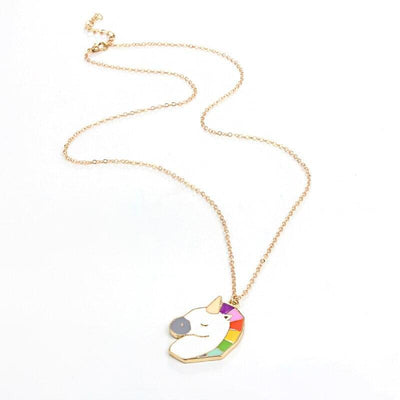 Unicorn Necklace <br> Metal Colorful