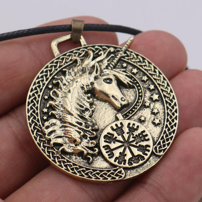 Unicorn Necklace <br> Metal Viking