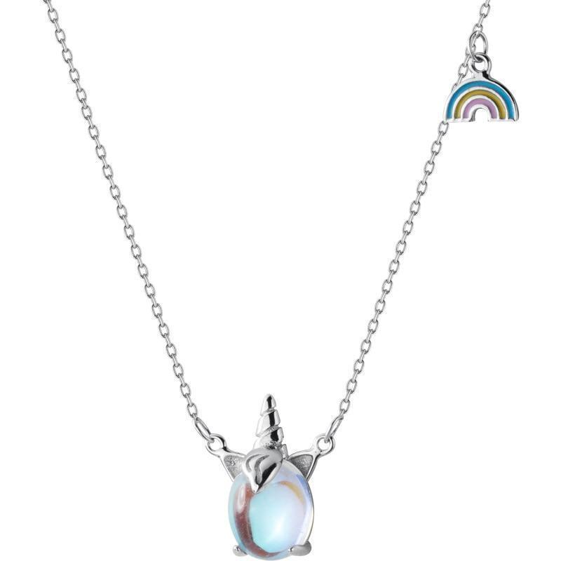 Opal Unicorn Necklace