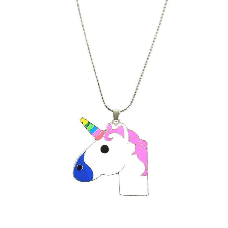 Unicorn Necklace Pink