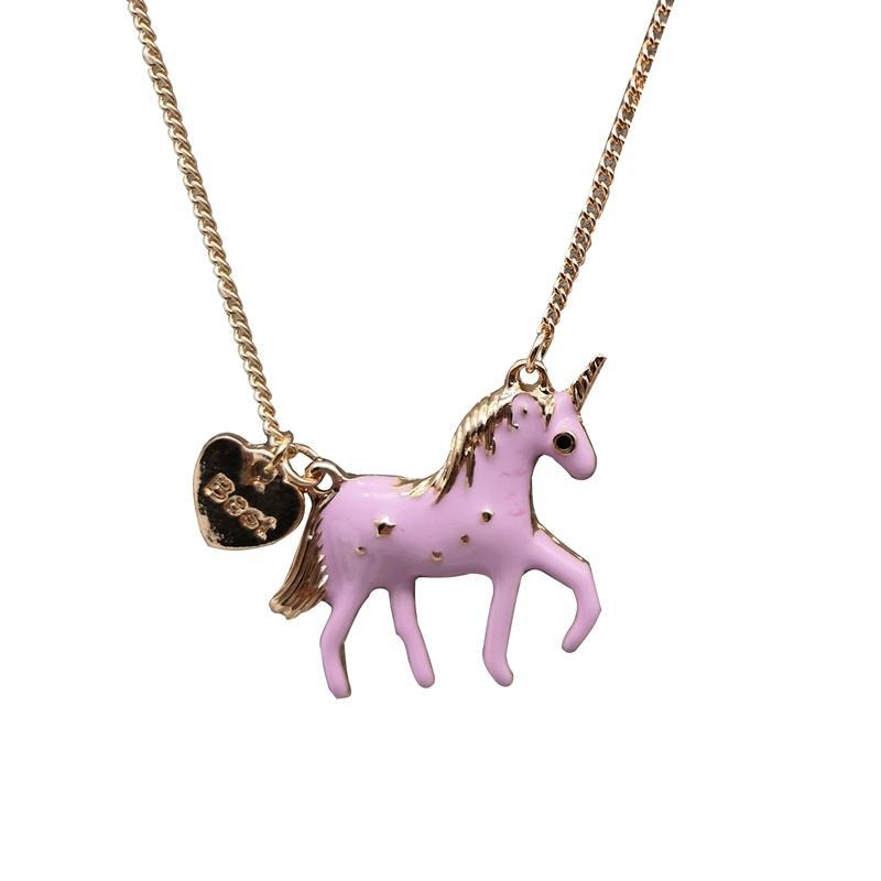 Unicorn Necklace Pink Oil Glazed