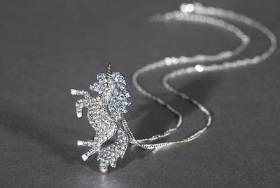 Unicorn Necklace <br> Sparkling Crystal