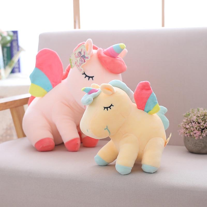 big unicorn emoji pillow