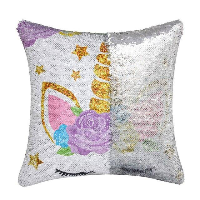 unicorn flip pillow