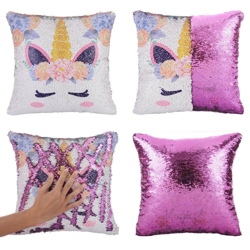 multicolor unicorn pillow