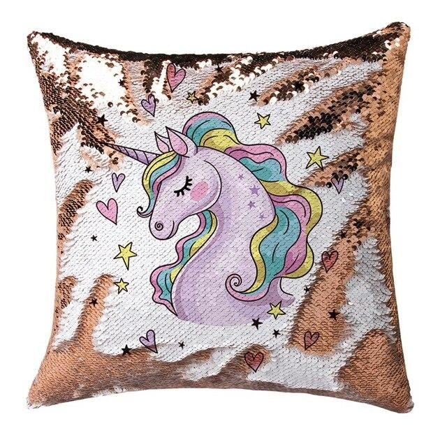 Reversible Unicorn Pillow