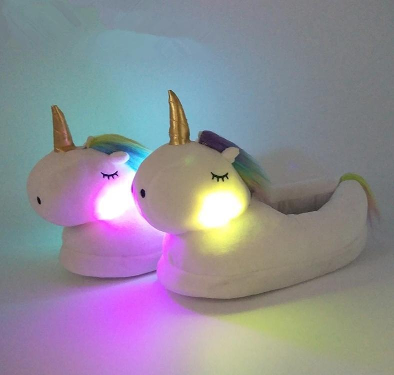 Unicorn Slippers with Led Lights