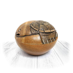 Turtle With Moon Stone Bowl