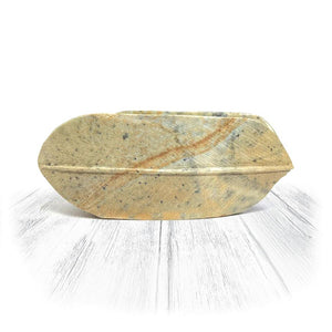 Double Feather Stone Bowl
