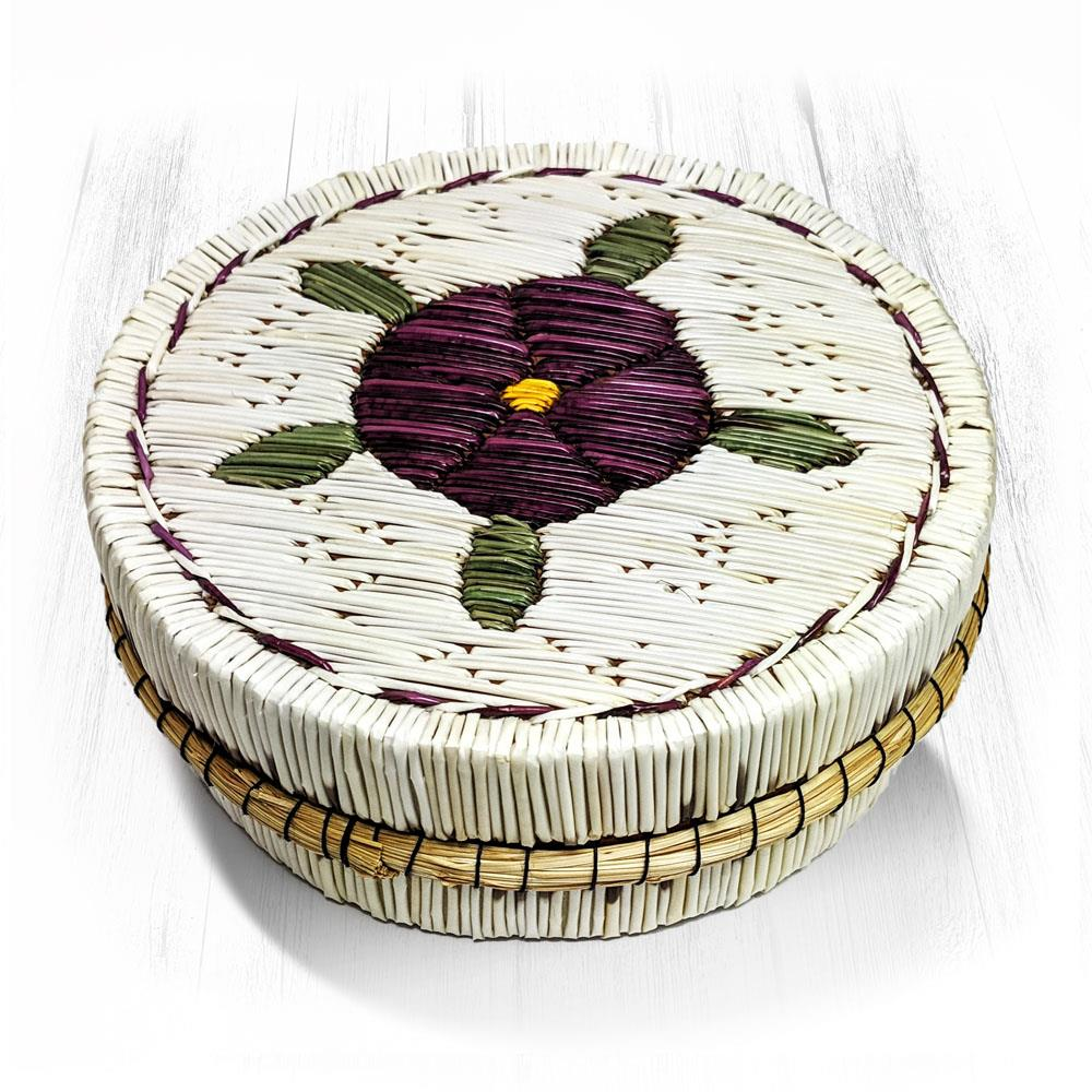 Turtle/Flower Quill Basket