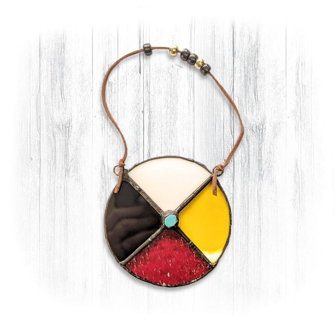 Stained Glass Medicine Wheel Suncatcher
