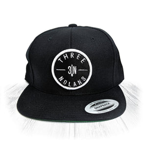 Black 3 Nolans Snapback With White Patch