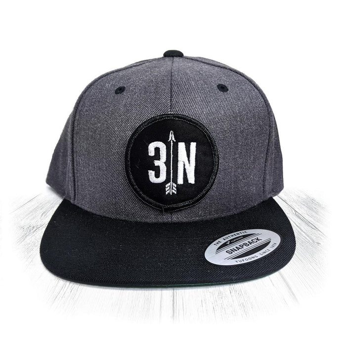 Grey & Black 3 Nolans Snapback With Black Patch